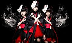 Babymetal's debut album is  third in iTunes's US rock chart and has made the online top 10 in six other countries, including the UK. Photogr...