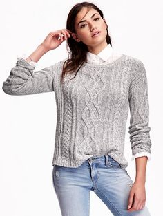 Old Navy Womens Cocoon Cable Knit Sweater ($43) ❤ liked on ...