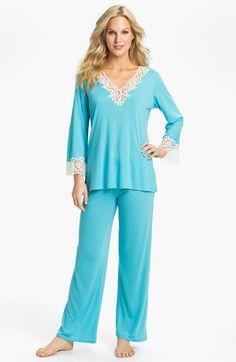 Turquoise dreaming - Natori 'Lhasa' Pajamas available at #Nordstrom