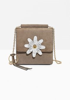 & Other Stories image 1 of Daisy Mini Suede Bag in Beige