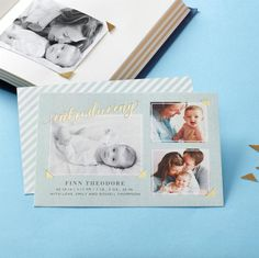 Birth announcements to introduce your little baby boy.