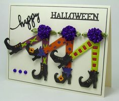 Frantic Stamper Precision Die - Mix 'n Match Witches' Legs (Halloween card)