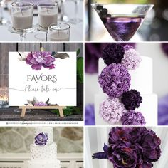 Purple Silver Grey Wedding Theme, Purple Floral Peony Wedding Signs Moodboard #wedding #weddingideas #weddingdecor