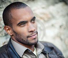 Portrait Of Handsome Black Man Stock Image - Image of looks, looking: 17490109 Men In Black, Handsome Black Men, Beautiful Men, Beautiful People, African Men, Fine Men, Attractive Men, Good Looking Men, White Man