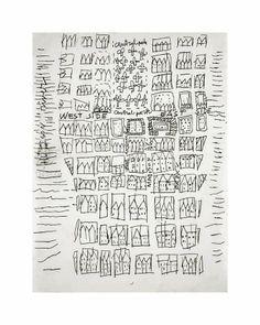 Andy Warhol NYCStreetMapc1949