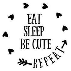 Silhouette Design Store: Eat Sleep Be Cute Repeat - Free Font Design, Design Logo, Silhouette Cameo Projects, Silhouette Design, Cricut Baby Shower, Baby Svg, Baby Baby, Cricut Creations, Cricut Vinyl