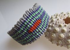 EcoFriendly Macrame Bracelet with Coloured by BlueMargarita,