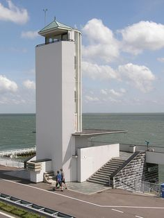 Willem Dudok, Vlietermonument, 1933, Afsluitdijk. Netherlands Country, Kingdom Of The Netherlands, Leiden, Amsterdam, Bauhaus, Gaudi, Willis Tower, Lighthouse, Interior Architecture