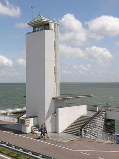 Dudok's monument op de afsluitdijk