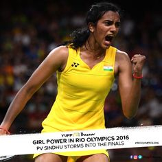 P V Sindhu carries a billion hopes heading into the Rio 2016 Olympic finals. All the Best. #IndiaatRio #Rio2016 #SindhuinFinals #PVSindhu #SindhuStorm