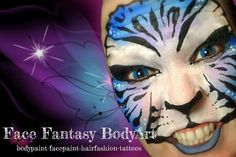Tiger facepaint  By Face Fantasy