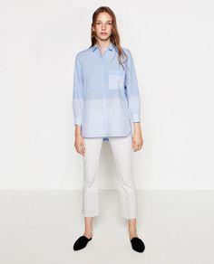 Image 1 of STRIPED POPLIN SHIRT from Zara