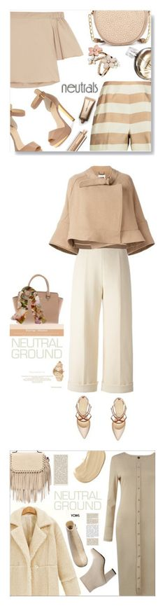 """""""Winners for Cool Neutrals"""" by polyvore ❤ liked on Polyvore featuring TIBI, Neiman Marcus, Christian Louboutin, Chanel, Accessorize, Burberry, Nude by Nature, monochrome, neutrals and polyvorecontest"""