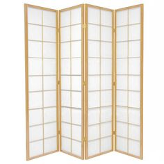Natural Zen 4 Fold Room Divider // Home Storage & Living