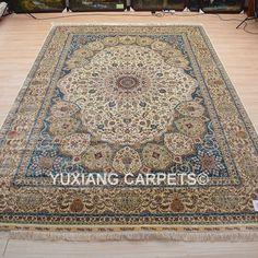 Nanyang Yuxiang Co. China's largest manufacturer of handmade silk carpet. Persian Carpet, Persian Rug, Hand Knotted Rugs, Oriental Rug, Rugs On Carpet, Bohemian Rug, Wool, Silk, Silk Sarees