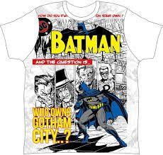 Image result for BATMAN T-SHIRT