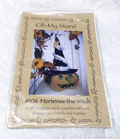 Oh My Stars Hortense the Witch Sewing pattern Halloween project with fabrics #OhMyStars