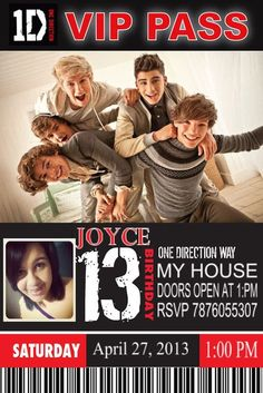 cute one direction party!! MOM THIS IS MY 13 BDAY PARTY GET READY!!!!! :D