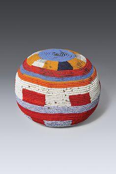 Beaded Gourd (mulimu), Nyaturu Gourd, glass beads, beeswax, fiber, thread, 19.7cm