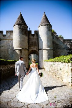 Being married in a castle would be awesome! If not, then a honeymoon where we could see some would be the next best thing