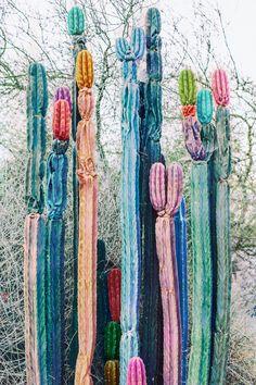 Nicholas Scarpinato - Art // are these Colorful velvet cactus sculptures?