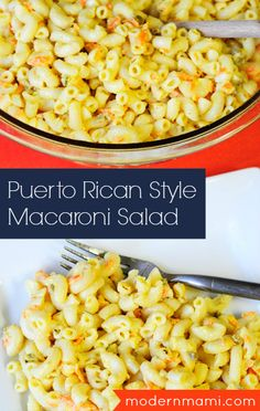 Quick & Easy Make-Ahead Side Dish: Puerto Rican Style Macaroni Salad {Recipe} - Try this unique hispanic recipe – Puerto Rican Style Macaroni Salad with all the ingredients from - Puerto Rican Dishes, Puerto Rican Cuisine, Puerto Rican Recipes, Mexican Food Recipes, Ethnic Recipes, Puerto Rican Appetizers, Puerto Rican Chicken, Boricua Recipes, Comida Boricua