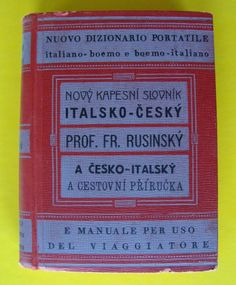 Vintage 1941 Italian Czech Pocket Dictionary Translation HC Italiano Boemo Book #Vintage #Hardcover #1941
