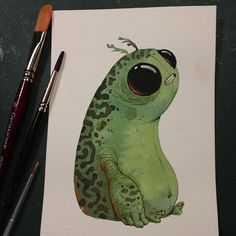Watercolor doodles by Chris Ryniak… (Taken with Instagram)