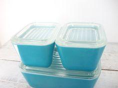 #vintage #kitchen #pyrex #blue #50s $42