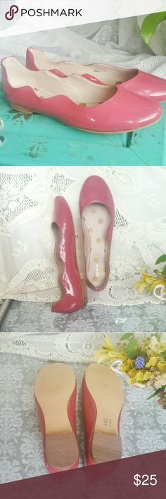 NWOB BODEN ANTIQUE ROSE PATENT LEATHER FLATS NEW UNWORN WITHOUT BOX PATENT LEATHER WAVE BALLERINA FLATS BY BODEN I  ANTIQUE ROSE. THESE VERSATILE SHOES LOOK GREAT WITH DRESSES, JEANS AND JUST ABOUT ANYTHING ELSE.  SZ 38.5 Boden Shoes