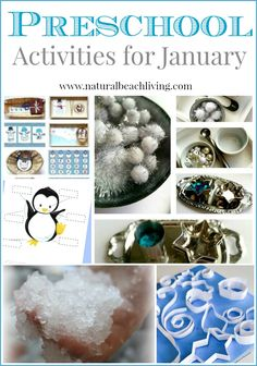 Love these Preschool Activities for January they are perfect Montessori, Science, Sensory, Books, Free Printables, Crafts that are perfect for Winter
