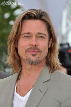 Brad Pitt: Long hair fits him. What do you think?