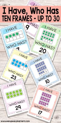 Learning 10 Frames through I Have Who Has card game - up to 30