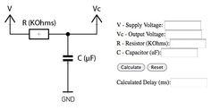 RC Time constant/voltage calculator