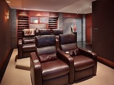 Wine and a movie room! What could be better?
