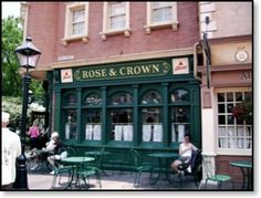 The Rose and Crown (UK, EPCOT)  Never been there for dinner, but the Ploughman's Lunch is yum...one of the few places that is on my must eat at list every trip (and not just because of the name)