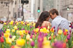 @Holly Sansom I like the look of the couple in the middle of the tulips.