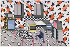 Architectural Drawing Patterns Images by Nathalie du pasquier who contributed a significant range of patterns for Memphis Milano Textile Patterns, Print Patterns, Textiles, Nathalie Du Pasquier, Sketching Tips, Drawing Tips, Drawing Ideas, Clouds Pattern, Memphis Design