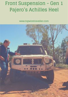 Dave's Gen 1 Pajero race car is super-reliable. However the front suspension is delicate - when the front lands heavily after a jump, things bend! #Pajero #OffRoadRacing #TopWireTraveller #ForestRally Dirt Racing, Off Road Racing, 4x4 Off Road, Road Race Car, Race Cars, Pajero Off Road, Trophy Truck, Inflatable Kayak, Expedition Vehicle