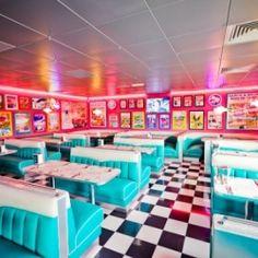 Tommy's Diner, an American vintage restaurant in France.