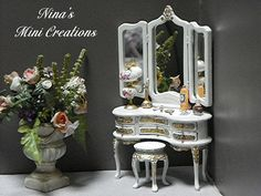Antique Bespaq vanity refurb. ~By Nina's Mini Creations~