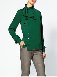 Damn you Rachel Zoe and your saucy jewel tone blouses! - Rachel Zoe Maryna Side Placket Silk Blouse