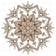 Brown round floral mandala, 28999, Design elements, download Royalty free vector clipart (eps)