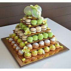 Pièce montée de macarons et choux - Magazine Avantages