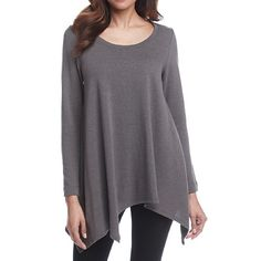 Chelsea & Theodore Solid Tunic in Gray - NWT This beautiful tunic features a relaxed fit and uneven hem. Featured in gray (graphite), has a scoop neck and 3/4 length sleeves. Made of rayon and spandex. MSRP is $68. Chelsea & Theodore Tops Tunics