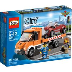 LEGO City Town Flatbed Truck Play Set