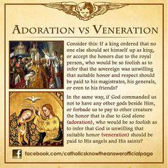 Adoration vs. Veneration