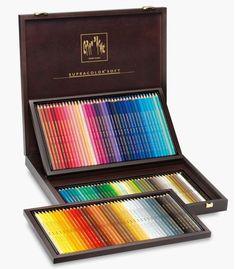 Amazon.com : Caran D'ache Supracolor, Wooden Box 120 Pencils (3888.920) : Artists Pencils : Office Products