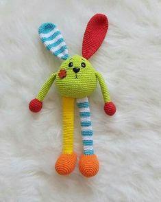 Crochet Baby Toys, Easter Crochet, Crochet Gifts, Crochet For Kids, Diy Crochet, Crochet Dolls, Crochet Bunny Pattern, Crochet Rabbit, Crochet Bear