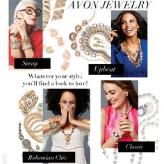 Introducing the NEW look of our Avon jewelry! Whatever your style, you'll find a look to love.